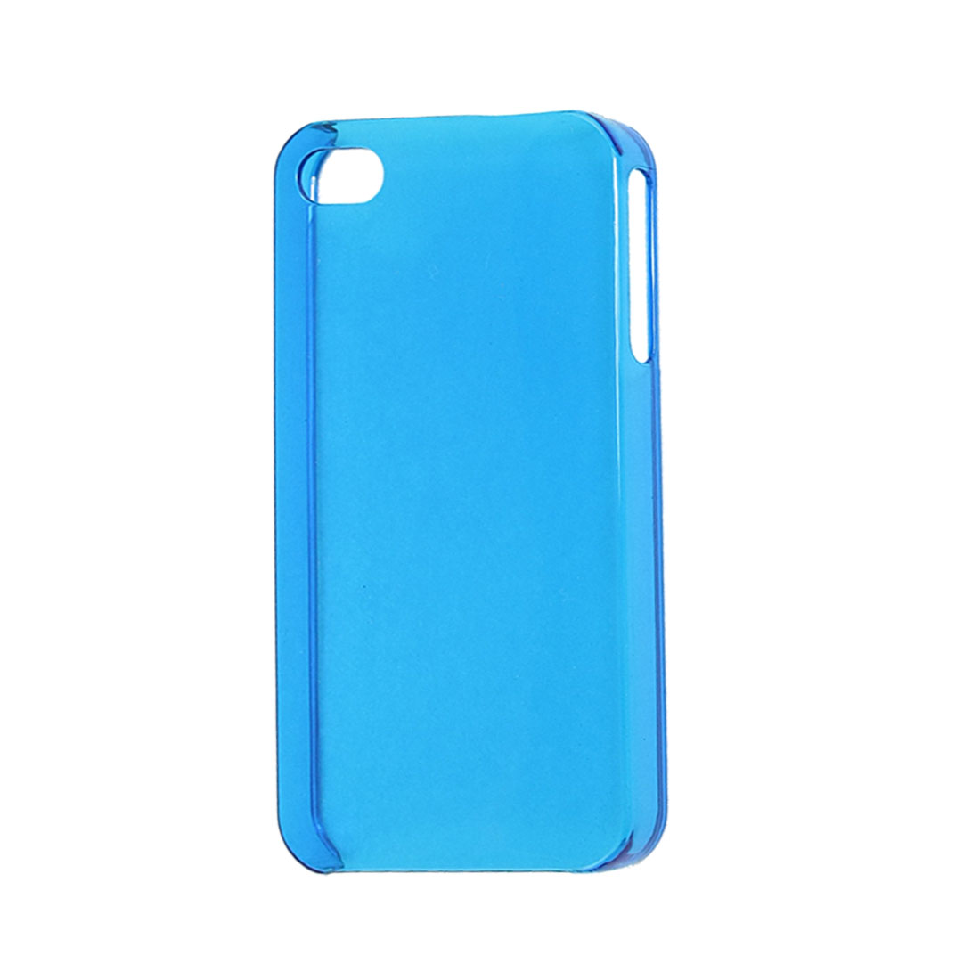 Clear Blue Hard Plastic Back Case Cover Protector for iPhone 4 4G 4S