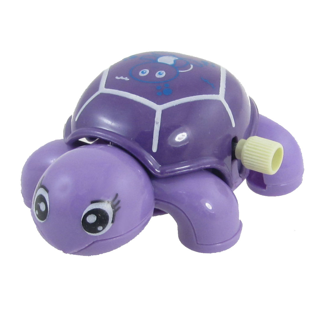 Plastic Wind Up Clockwork Animal Turtle Toy Gift Purple for Kids Child