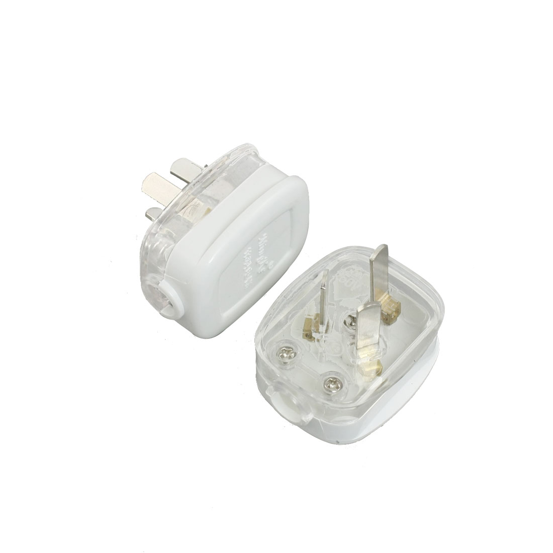 4 Pcs Power Adapter AU Plug Replacement Off White Clear AC 250V 10A