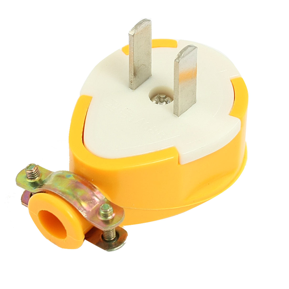 AC 250V 10A 2 Flat Pin Yellow Water Resistant US Plug Adapter