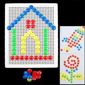 Child Kids 71 Pcs Nails Composite Picture Creative Mosaic Puzzle Toy