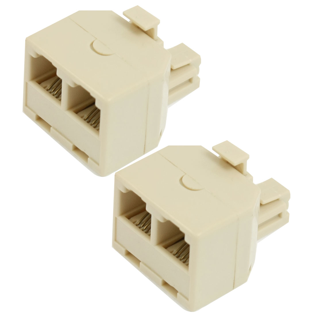 RJ11 4 Pins 1 Male to 2 Female Telephone Splitter Connector Adapter 2 Pcs