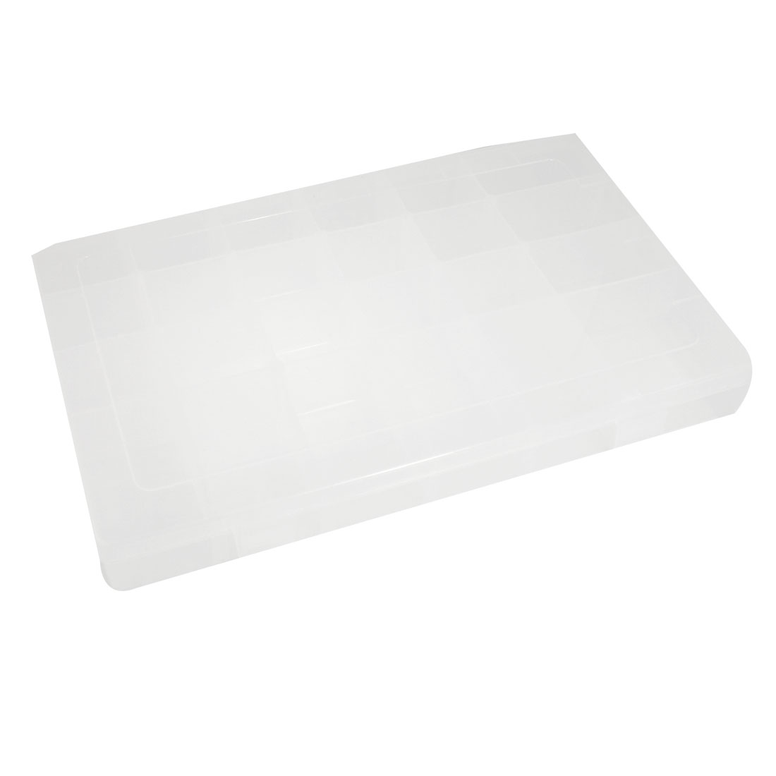 Clear White Adjustable 24 Grids Jewelry Bead Fish Hook Storage Case Tool Box