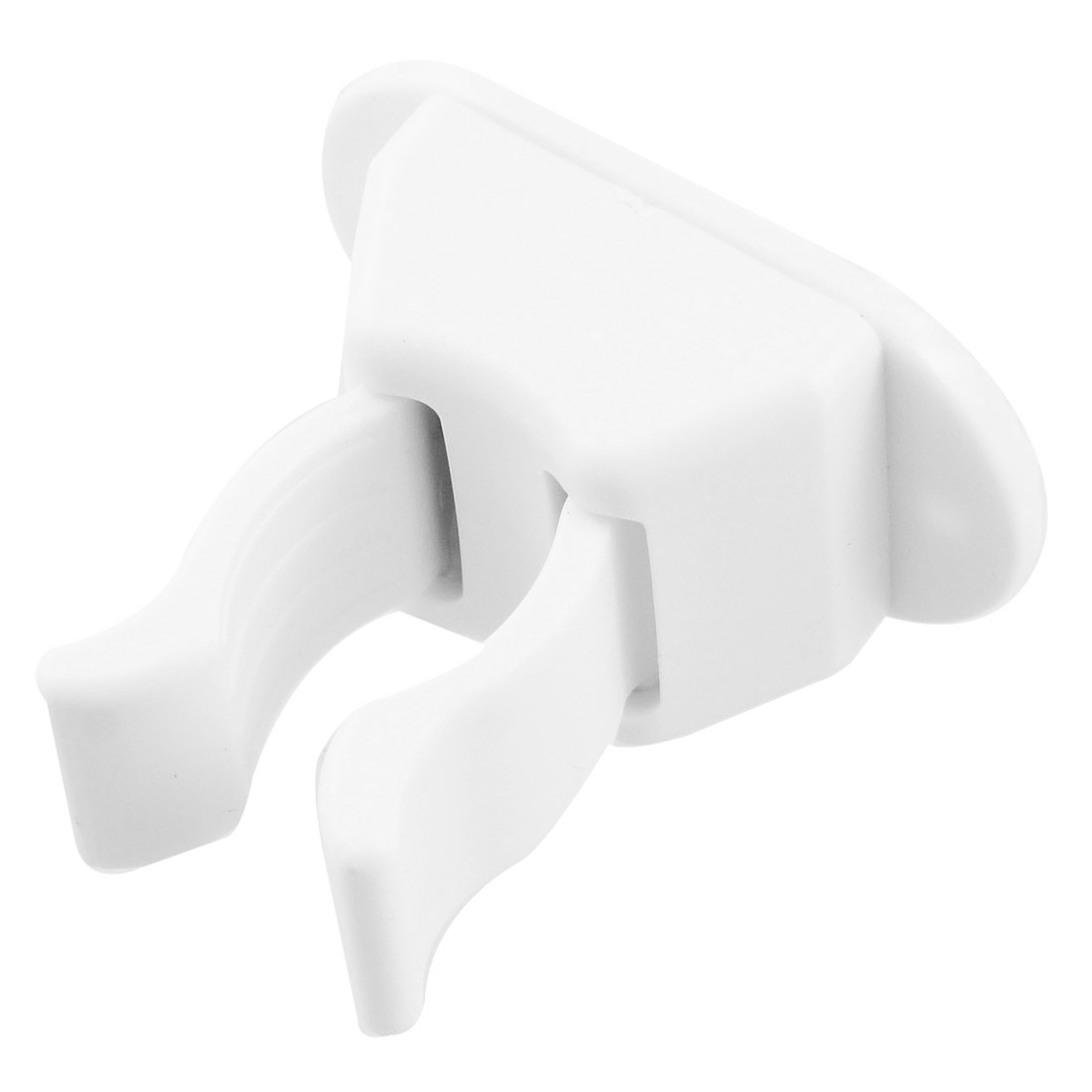 Bathroom Adhesive Broom Mop Handing Wall Clip Hook White