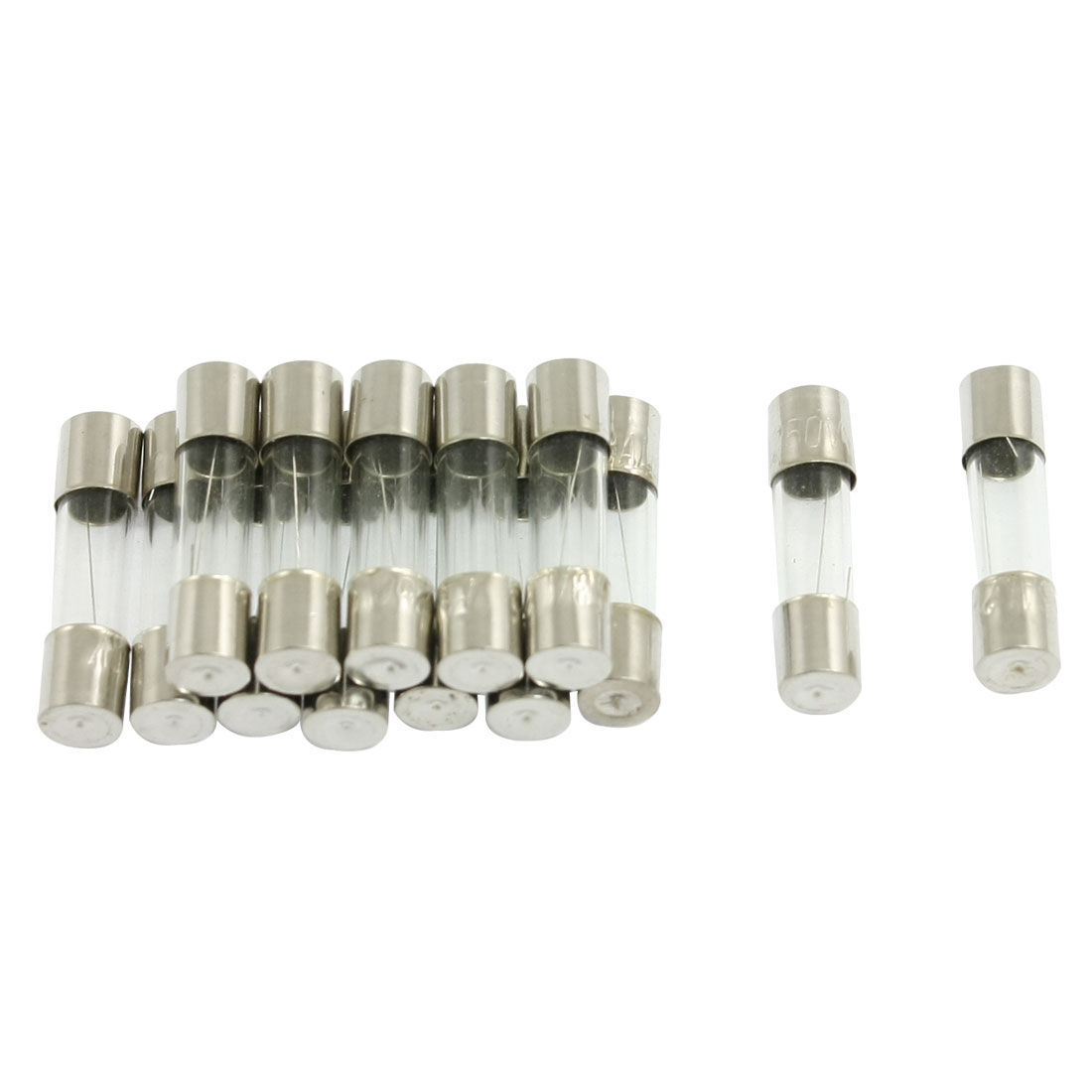15 Pcs 250V 3A 5mm x 20mm Fast Blow Type Quick Glass Tube Fuses