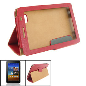 Faux Leather Sheath Case Cover Red for Samsung 6200