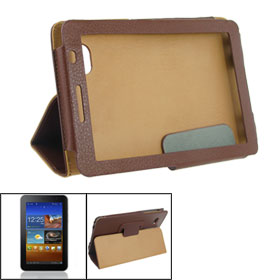 Protective Artificial Leather Cover Case Brown for Samsung 6200