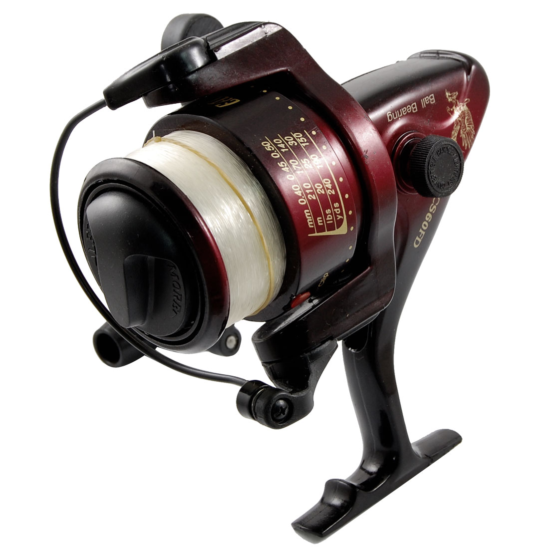 Outdoor Fishing Maroon Black Spinning Bearings Reel Gear Ratio 4.2:1
