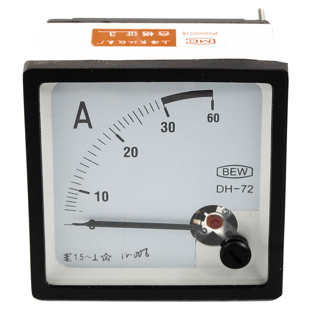AC DC 0-30A Class 1.5 Accuracy Analog Square Panel Meter Ammeter DH72