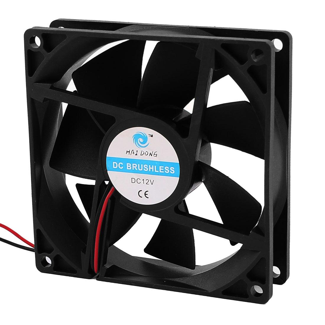 PC Computer Desktop CPU Cooler Cooling Fan 2 Terminals Connector
