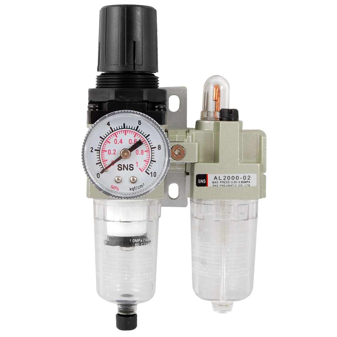 0.05-0.85MPa Air Source Treatment Unit Pneumatic Regulator Lubricator Set