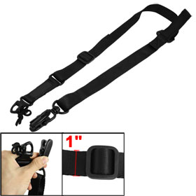 Black 1/2 Point Nylon Adjustable Belt Rifle Gun Sling Strap for War Game