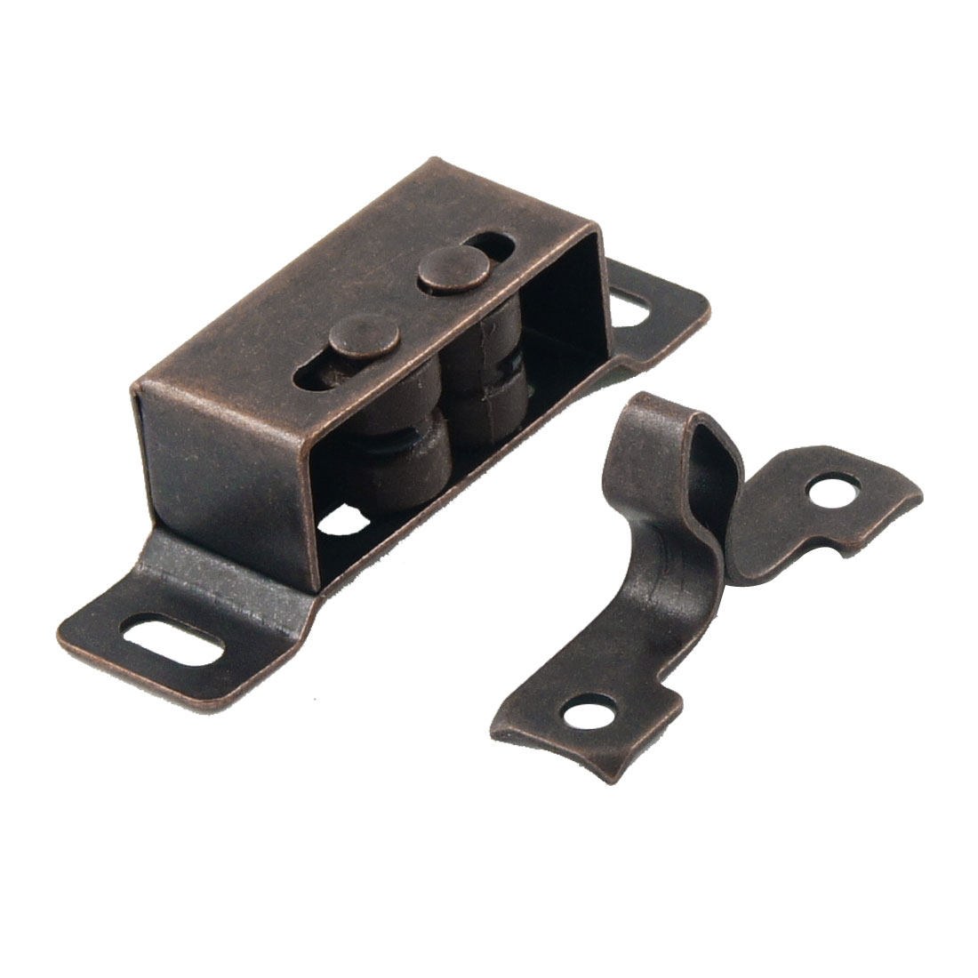 Copper Tone Cabinet Wardrobe Door Ball Roller Latch Catch 1.8""