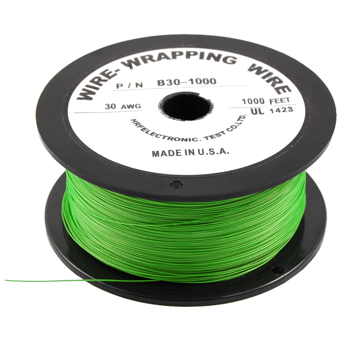 305M 30AWG Tin Plated Copper Wire Insulation Electronic Test Cable Roll Green