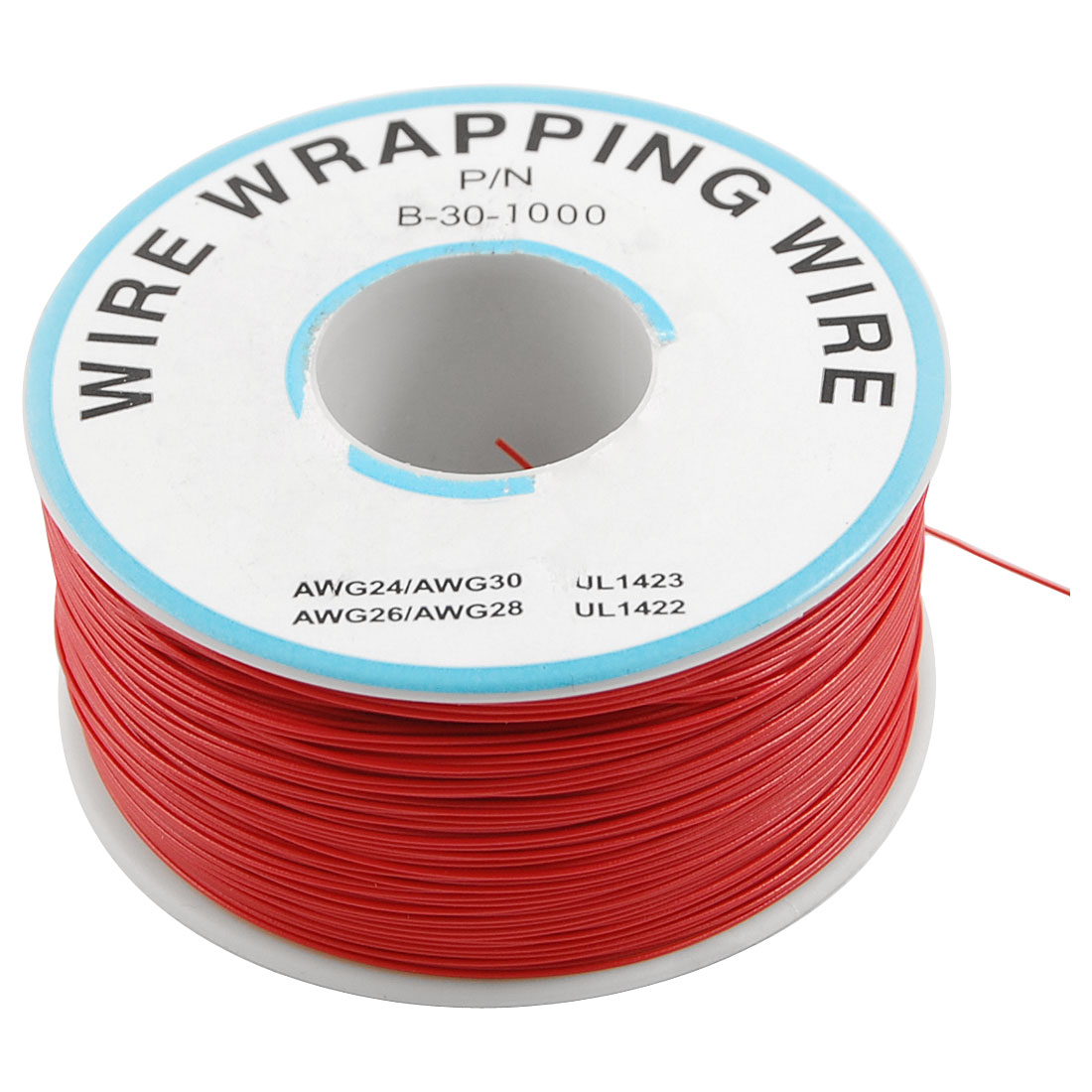 PCB Solder 0.25mm Tin Plated Copper Cord Dia Wire-wrapping Wire 305M 30AWG Red