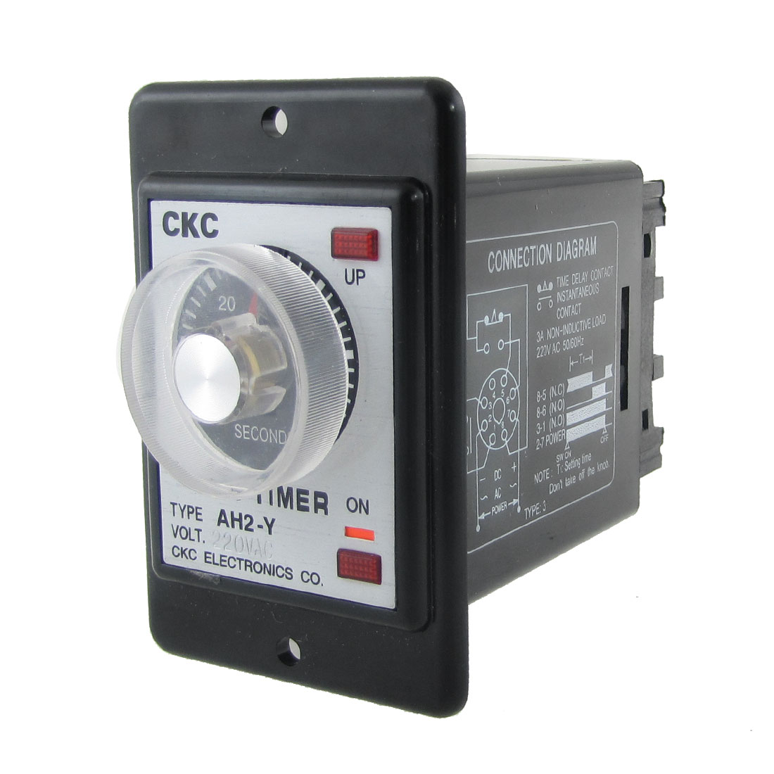 AC 220V 0-60 Seconds Timing Range Power On Timer Time Relay with Socket