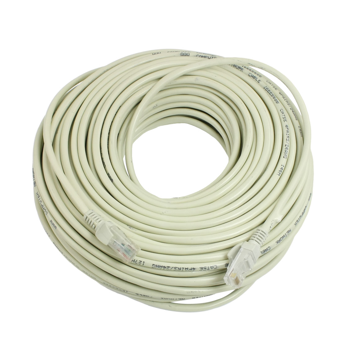 131 ft Feet 40M RJ45 CAT5E LAN Network Cable Off White for Ethernet Router Switch