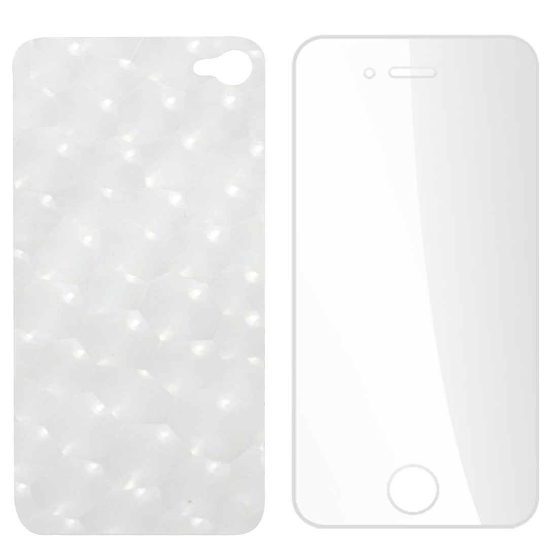 Clear Front Screen Film Guard + Back Protector for iPhone 4 4G 4S