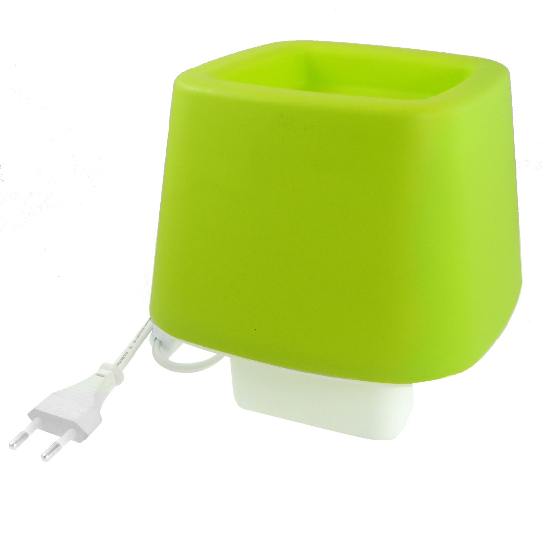 EU Plug AC 110-220V Home White Plastic Base Green Cover Desk Lamp Decoration