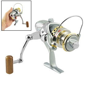 Gear Ratio 5.0:1 Fishing Spinning Reel Reels Silver Tone