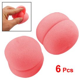 6 Pcs Pink Sponge Ball Hair Styler Curler Roller for Lady