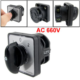 AC 440V 240V 1-0-2 Position Rotary Cam Changeover Switch