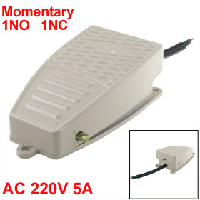 Nonslip Surface NO NC Momentary Foot Pedal Switch AC 220V 5A