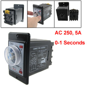 AC 220V 0-1 Second Timing Range Power On Timer Time Relay with Socket
