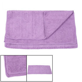 "Purple 29.5"" x 13"" Textured Rectangle Design Home Washcloth Towel"