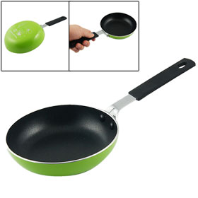 Home Kitchen Black Green Round Non Stick Egg Frying Pan