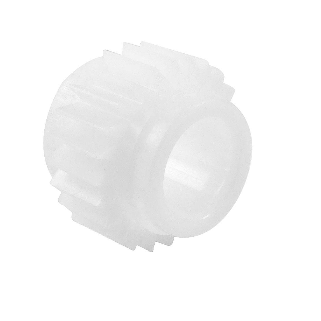 Plastic White 24 Teeth Clutch Ratchet Wheel for Washing Machine