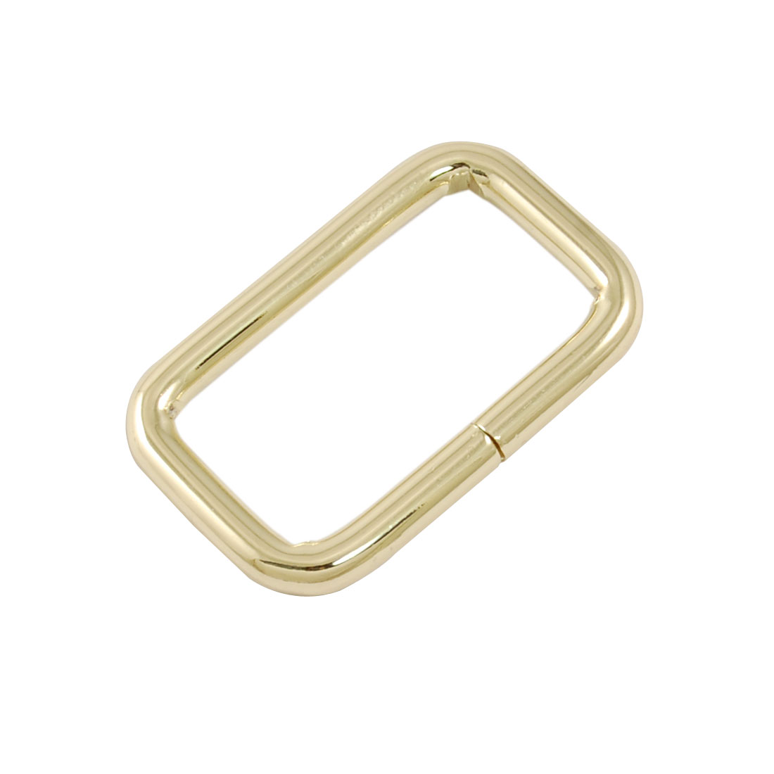 Handbag Decoration Ornament Copper Tone Metal Rectangle Shape Buckle 2 Pcs
