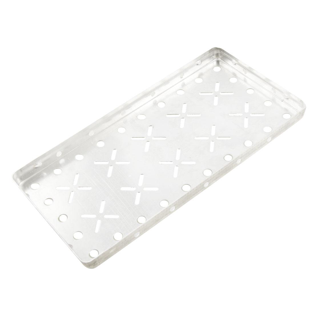 Sliver Tone 23cm x 12cm x 1.5cm Diamond Tread Plate Peg Aluminum Board