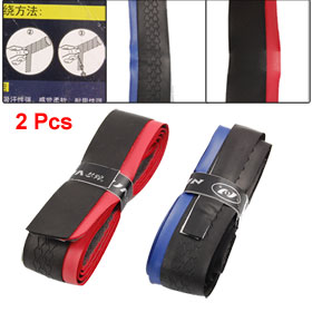2 Pcs Self-adhesive Nonslip Sweat Absorbent Badminton Racket Overgrips Belt