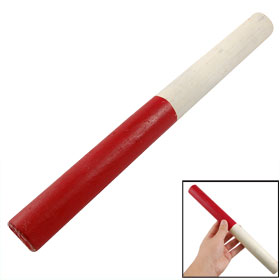 Field Race Practice Track White Red Wooden Relay Baton
