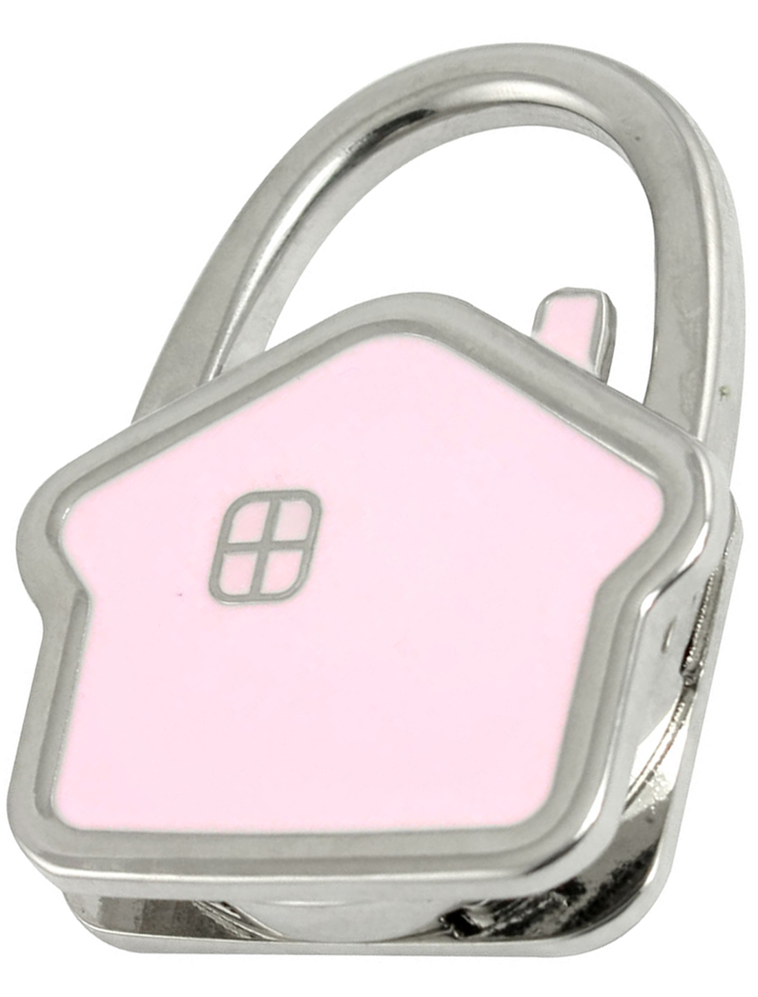 Pink Metal House Shaped Rubber Base Folding Design Handbag Hook