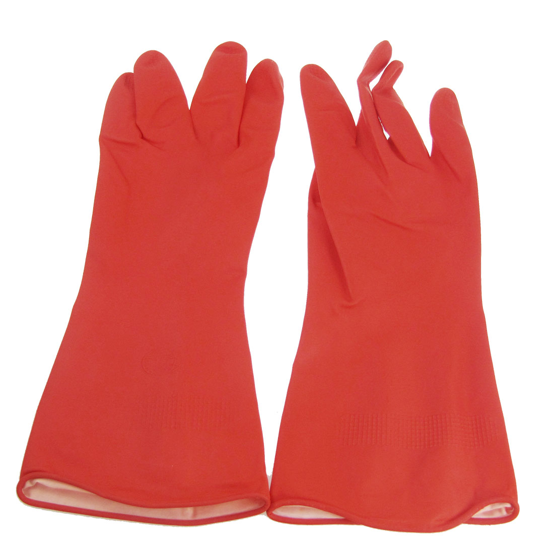 "Industry Household 12"" Length Red Latex Working Gloves"