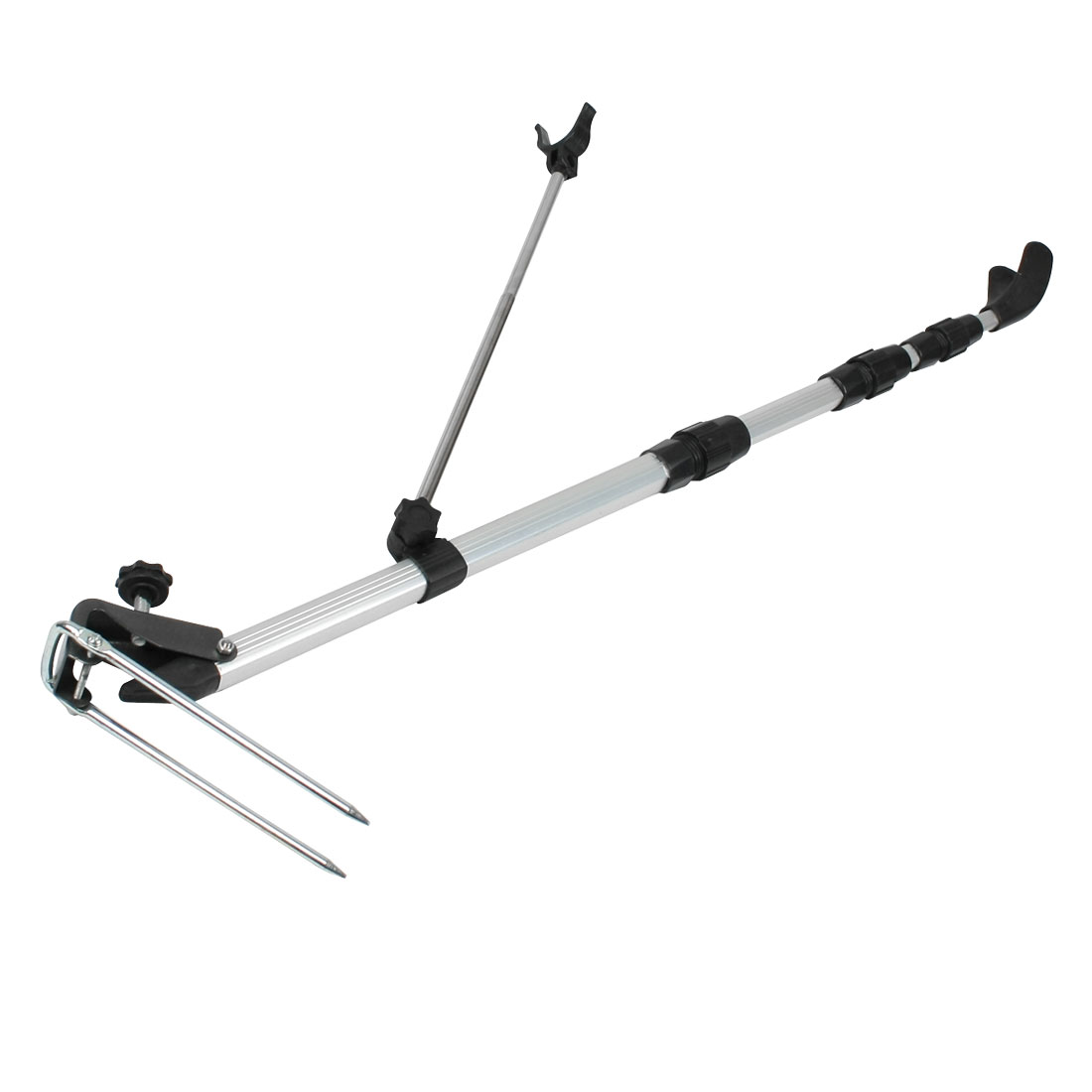 1.5M 4.9 Ft 4 Section Telescoping Fishing Rod Fish Pole Stand Holder