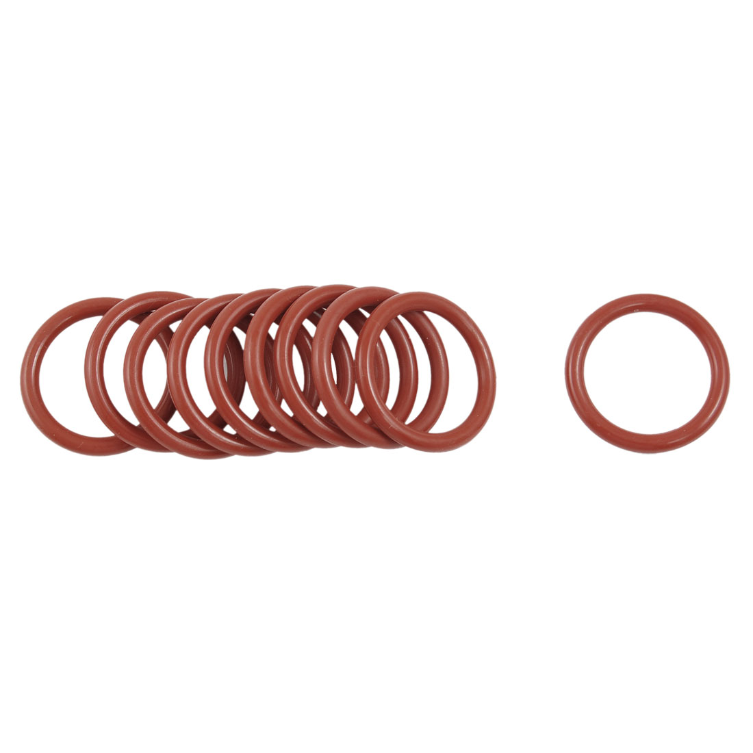 10 Pcs 26mm OD 3mm Thickness Dark Red Silicone O Rings Oil Seals Gasket