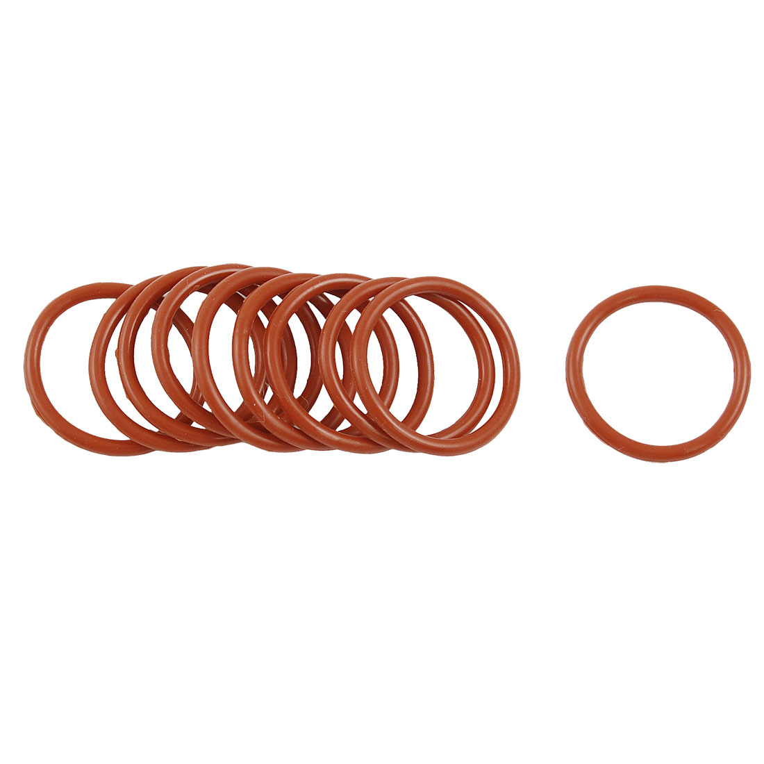 10 Pcs 22mm OD 2mm Thickness Dark Red Silicone O Rings Oil Seals Gasket
