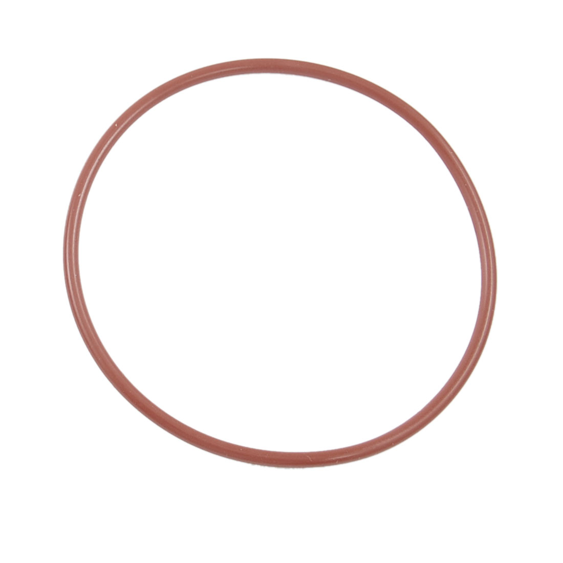 10 Pcs 65mm OD 2.5mm Thickness Dark Red Silicone O Rings Oil Seals Gasket