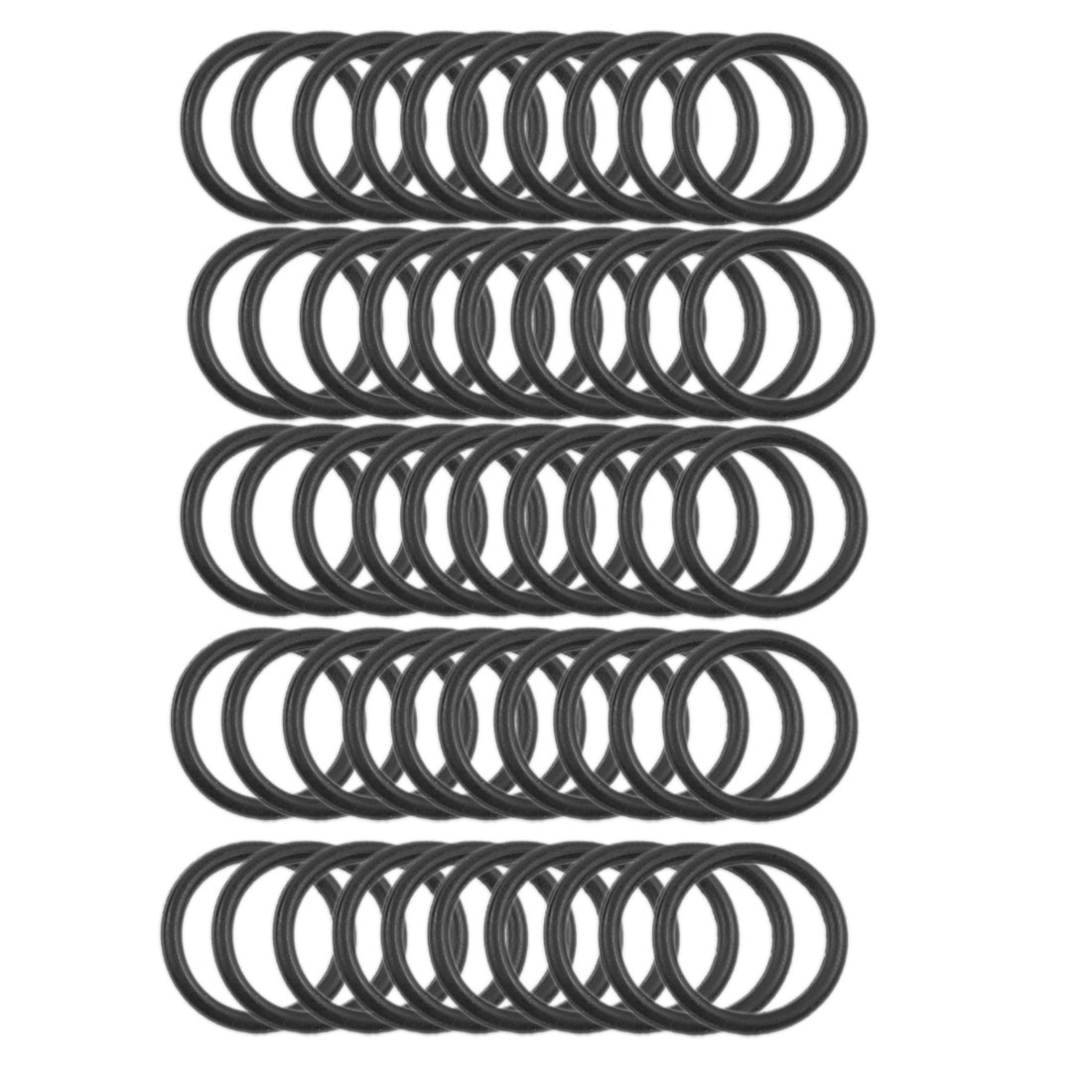 50 Pcs 18mm x 2mm Automobile Sealing NBR O Rings Gaskets Washers