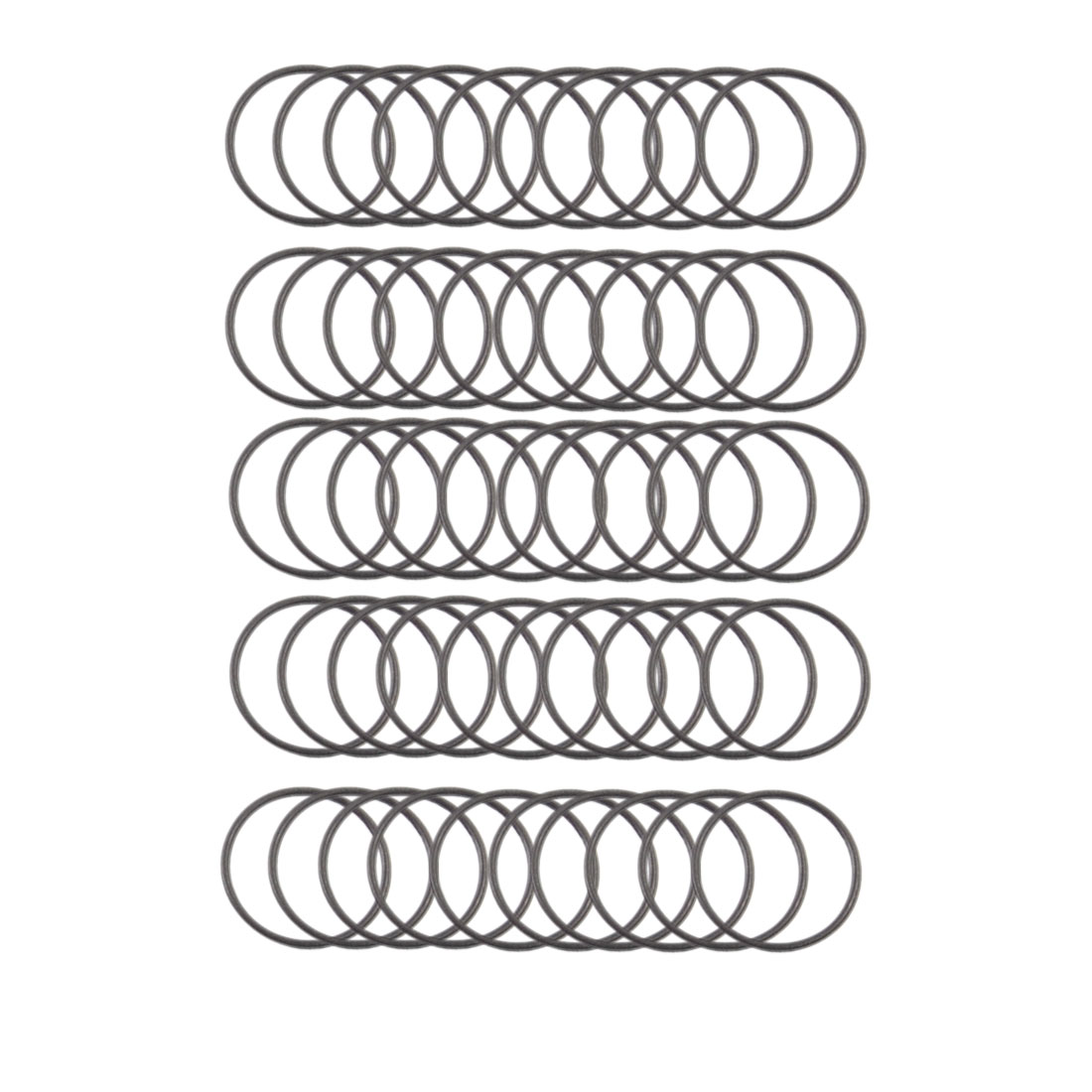 17mmx15mmx1mm Automobile Sealing NBR O Rings Gaskets Washers 50 Pcs