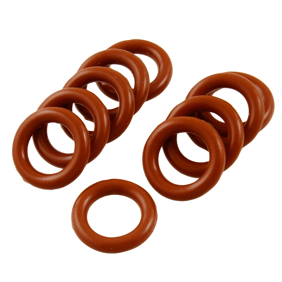 10 Pcs Flexible Silicone O Ring Seal Washer Gasket 10mm x 16mm x 3mm