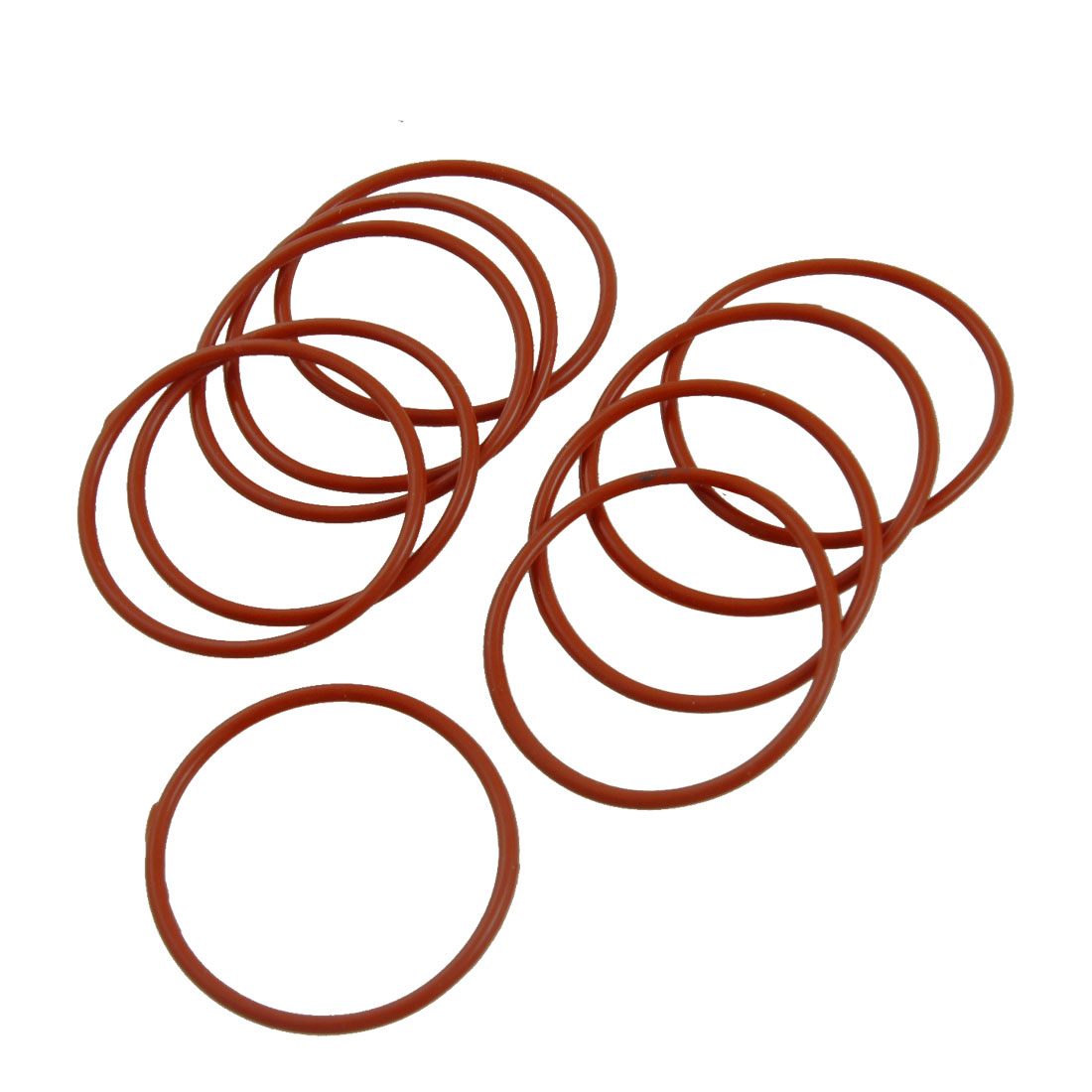 40mm x 36m x 2mm Red Silicone O Ring Oil Seals 10 pcs