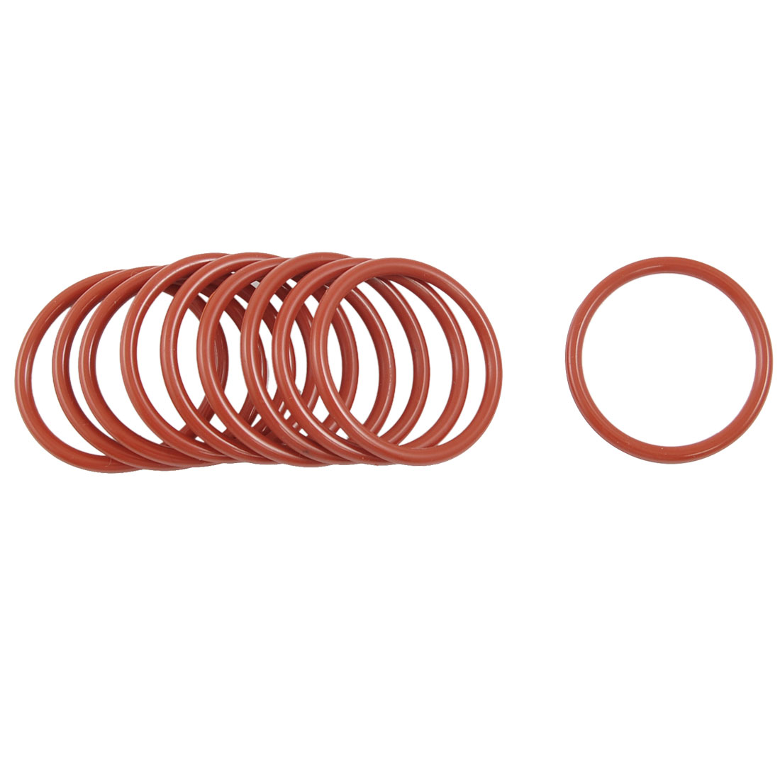 10 Pcs 38mm OD 3mm Thickness Dark Red Silicone O Rings Oil Seals Gasket