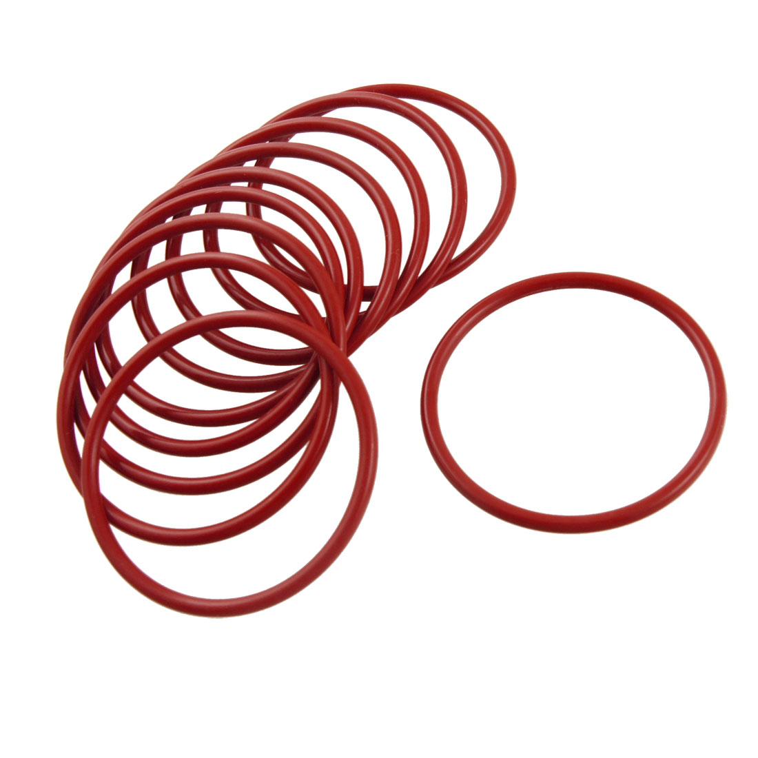 10 Pcs Industrial Silicone O Ring Seal Washer 49mm x 55mm x 3mm