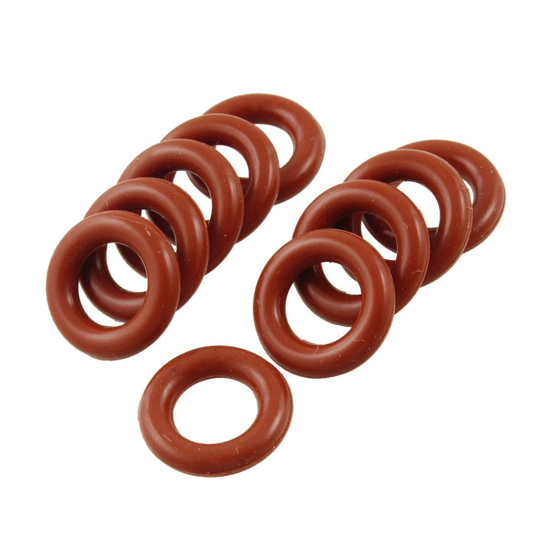 10 Pcs Industrial Silicone O Ring Seal Sealing Gaskets 9mm x 16mm x 3.5mm