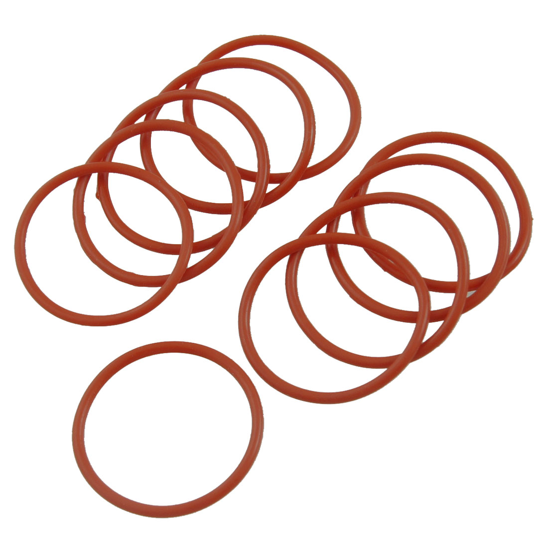 30mm x 2mm Silicone O Ring Oil Sealing Washers Grommets Red 10 Pcs