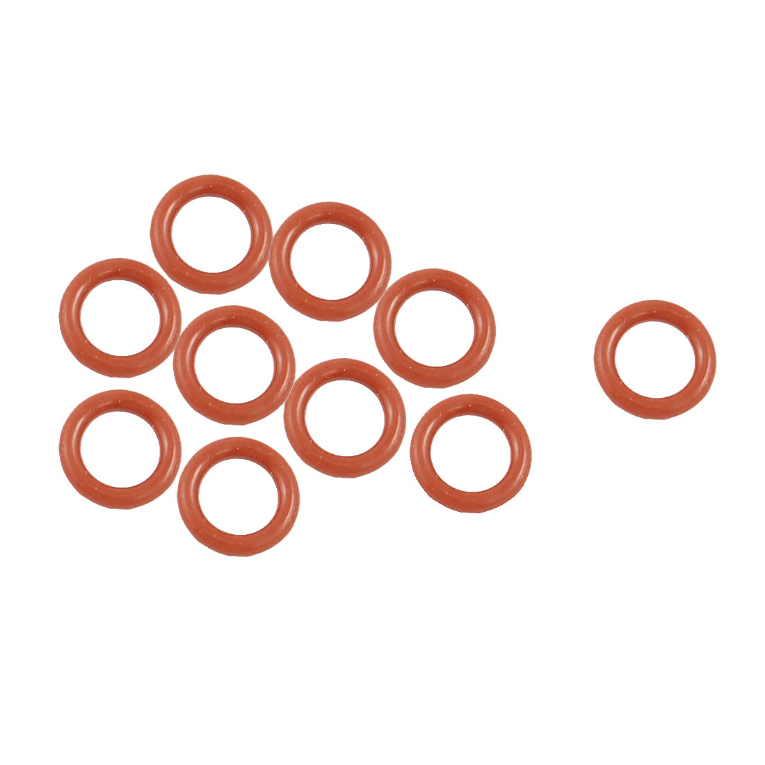 10 Pcs 13mm OD 2.5mm Thickness Dark Red Silicone O Rings Oil Seals Gasket